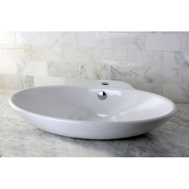 Oliva china vessel bathroom sink with overflow hole and - How to replace a drop in bathroom sink ...