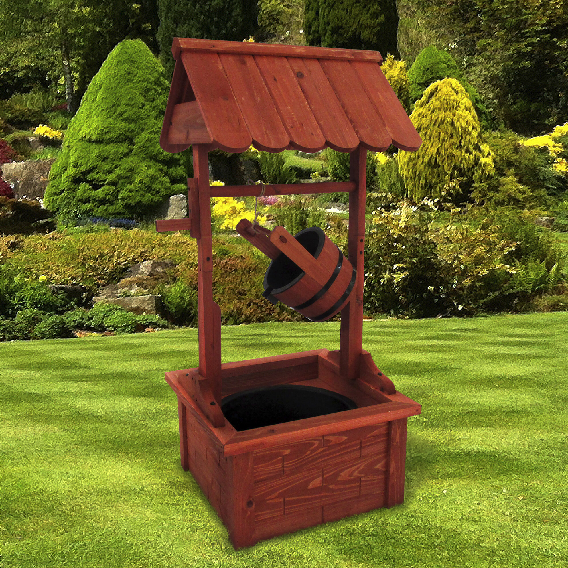 Well Design: Stonegate Designs Furniture Wood Wishing Well Fountain