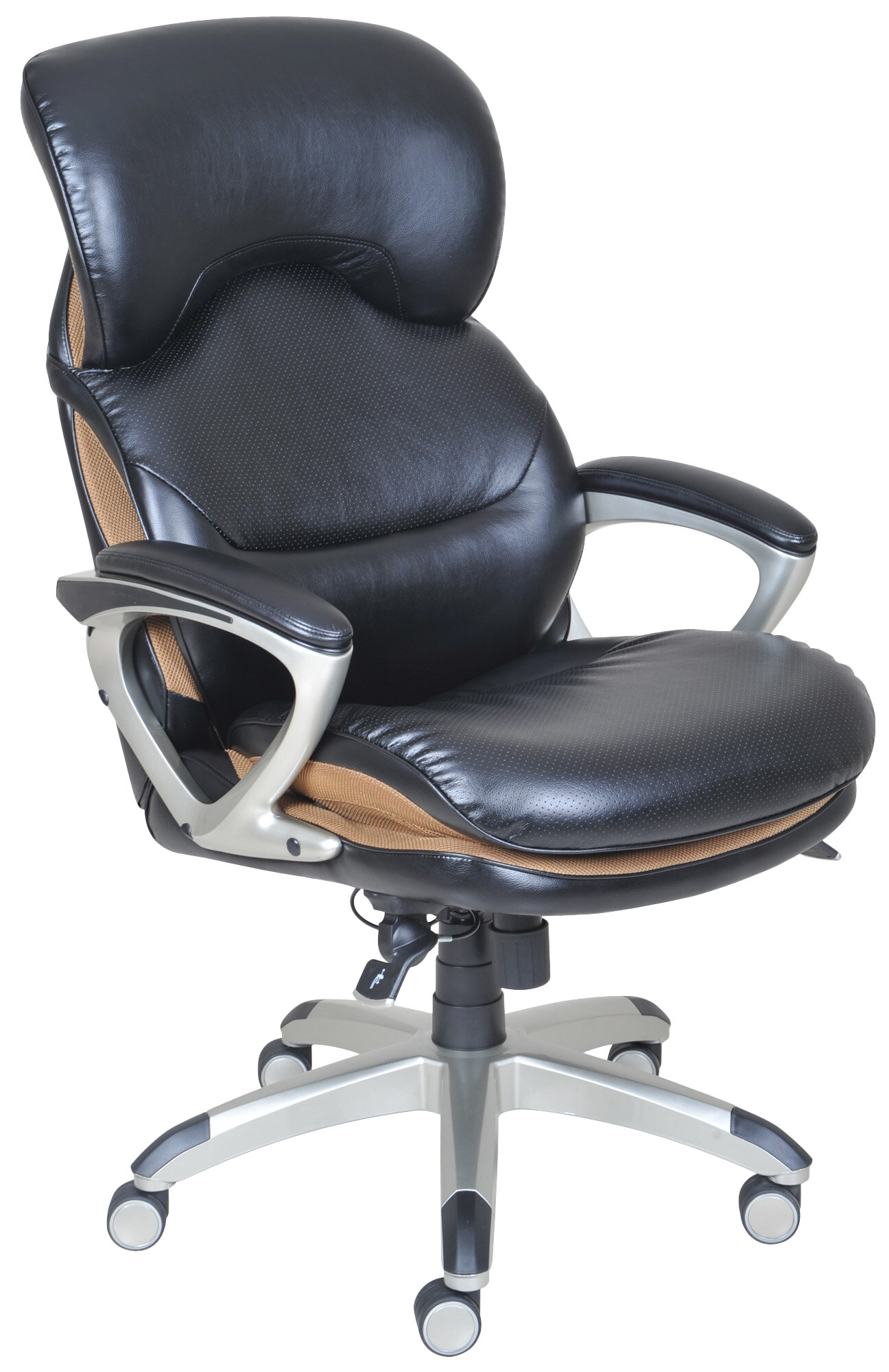 Serta At Home High Back Leather Executive Office Chair With Flexible AIR EBay