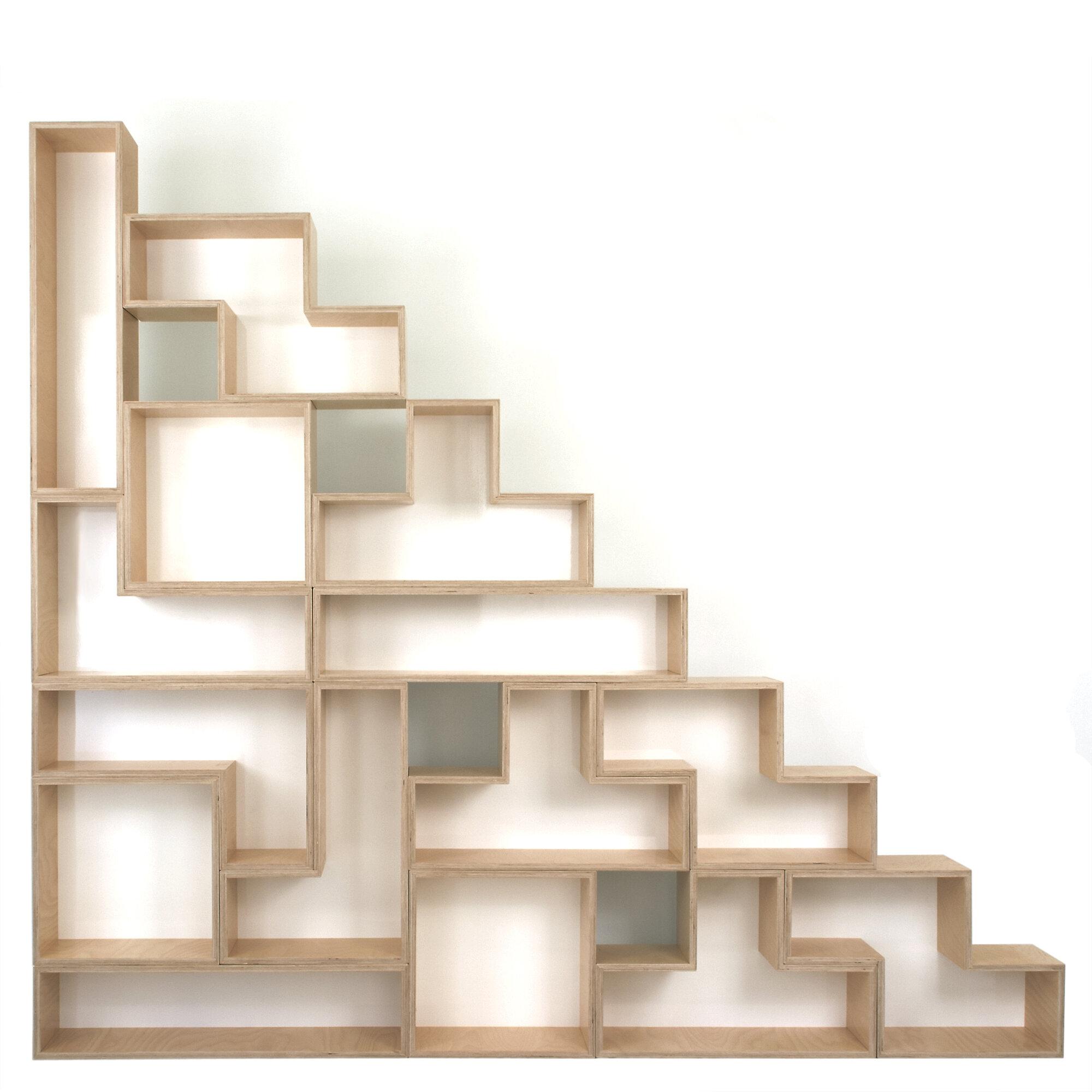 Brave Space Design Tetrad Flat Shelf Backing Finish: White
