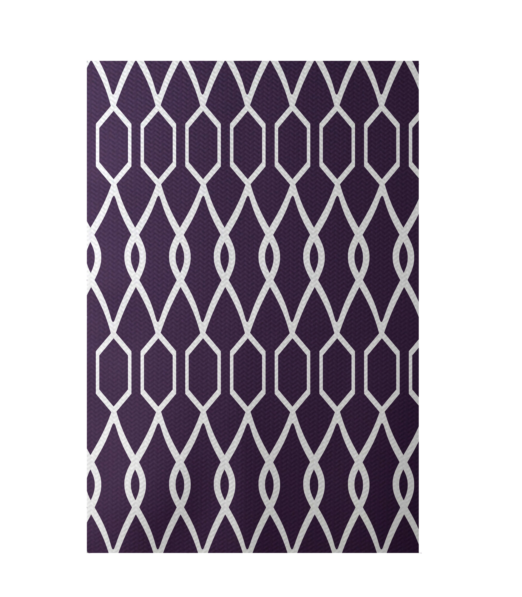 E by design charleston geometric print grape indoor for Geometric print area rugs