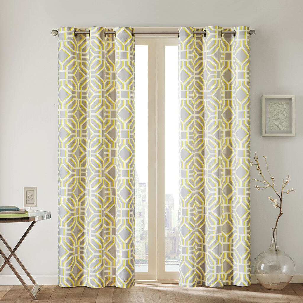 Intelligent design maci pleated curtain panel ebay for Window panel design
