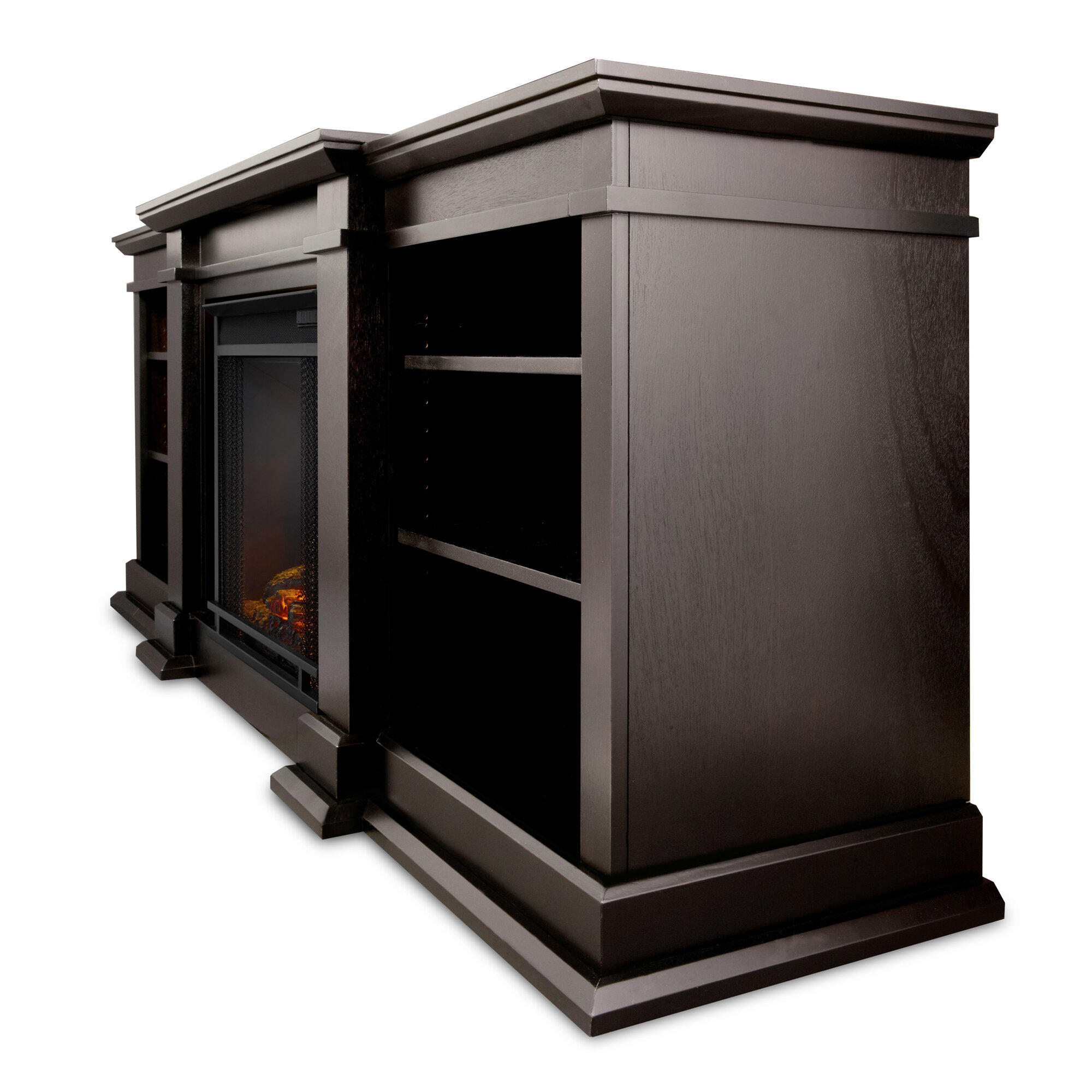 woodbridge home designs 72 quot tv stand with electric fireplace