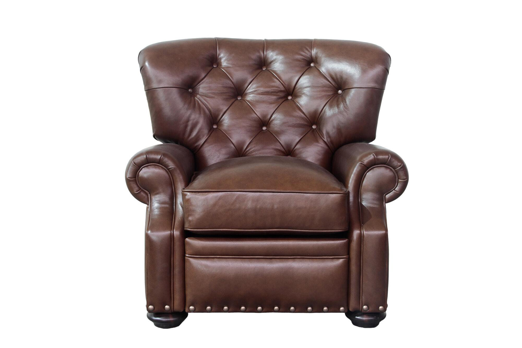 Barcalounger sinclair leather recliner ebay for Barcalounger