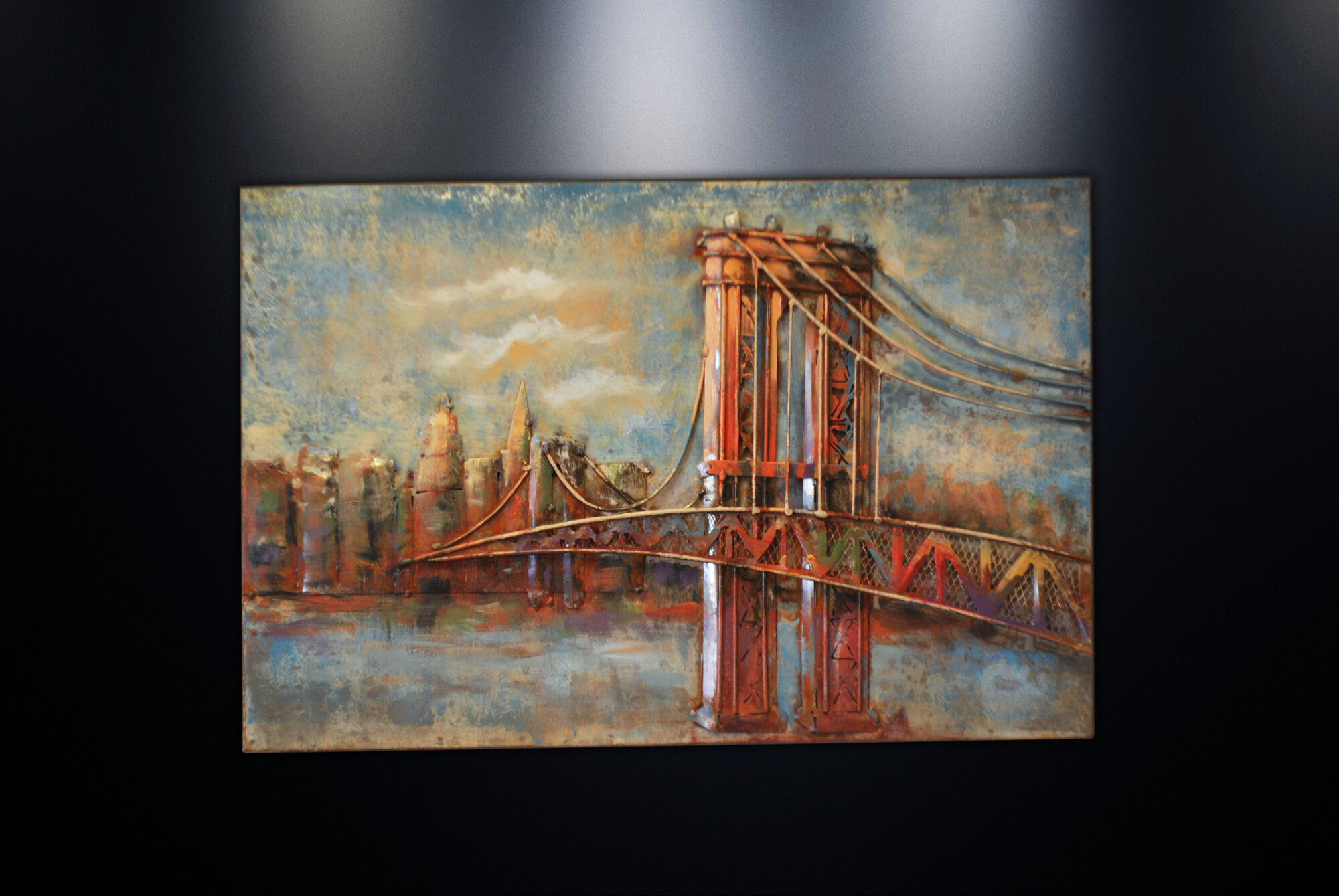 DSD Group Metal Wall Art Sculpture Home Decor 'Brooklyn