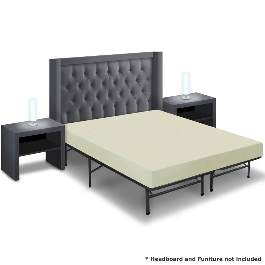 Best Price Quality 6 Memory Foam Mattress And Bed Frame Set Ebay