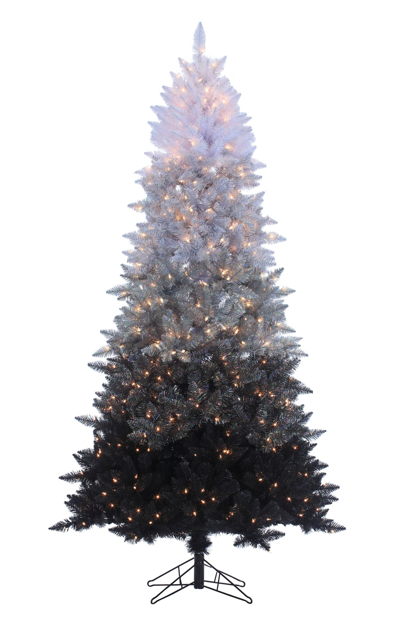 7 5 39 Vintage Black Ombre Spruce Christmas Tree With 600