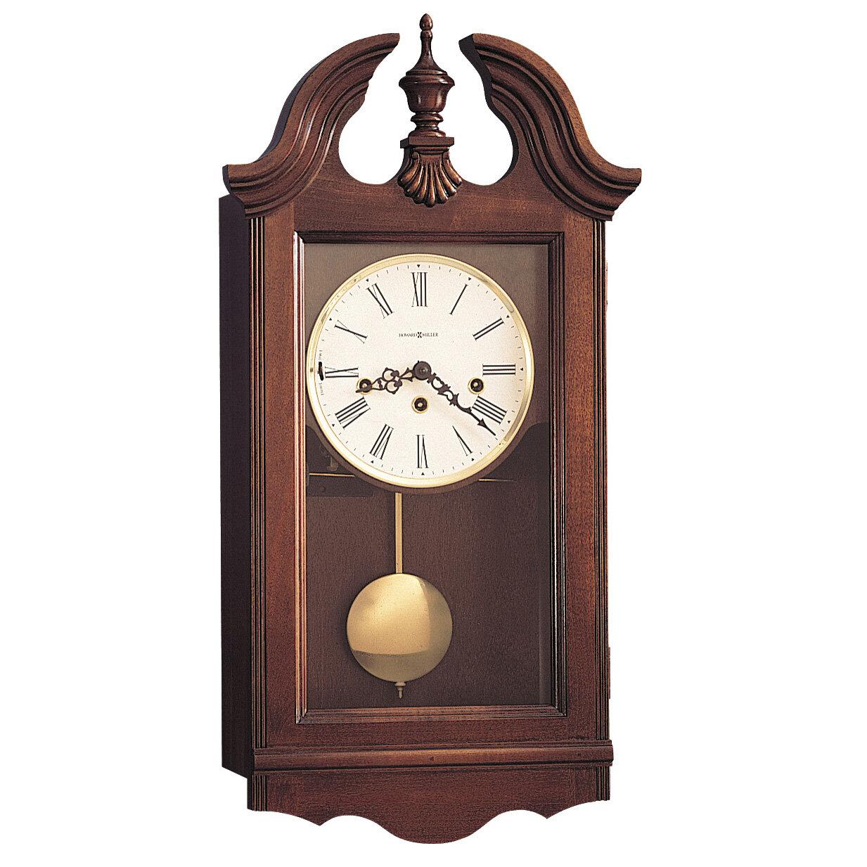 Howard Miller 174 Chiming Key Wound Lancaster Wall Clock Ebay