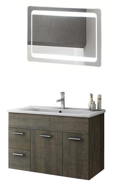 ACF Bathroom Vanities Loren 34 Single Bathroom Vanity Set With Mirror