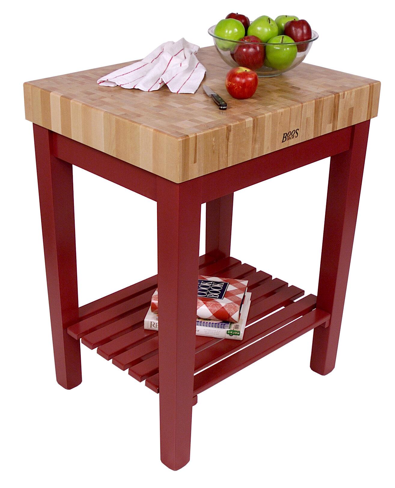 Kitchen Table With Butcher Block Top : John Boos American Heritage Prep Table with Butcher Block Top eBay