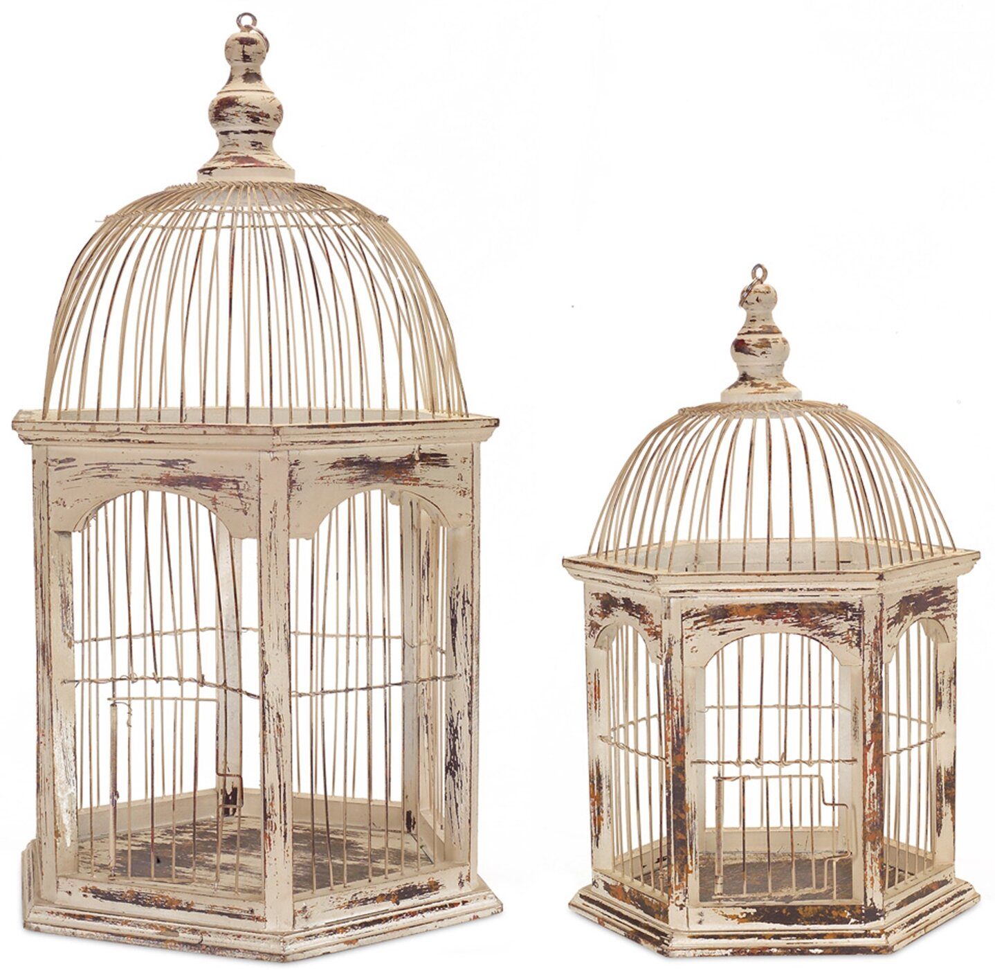 Melrose International 2 Piece Rustic Wire Decorative Bird