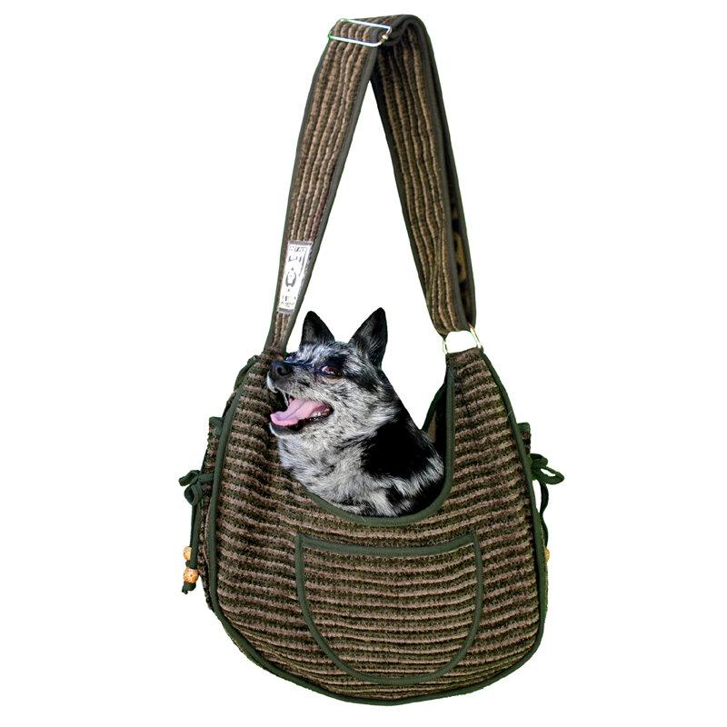 Pet Flys Private Stripe Puppy Pet Carrier