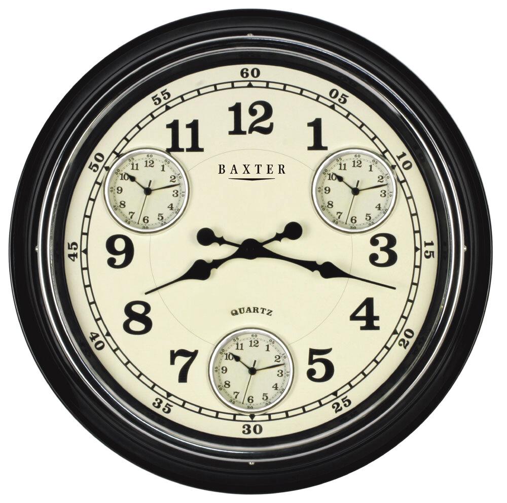 pearl time metal multi time zone wall clock new on wayfair