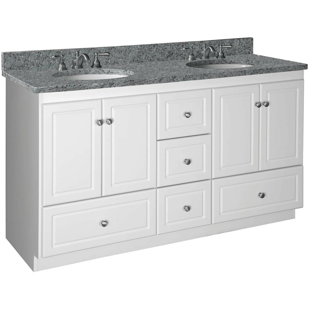 Strasser Woodenworks Simplicity 60 Quot Double Bowl Bathroom