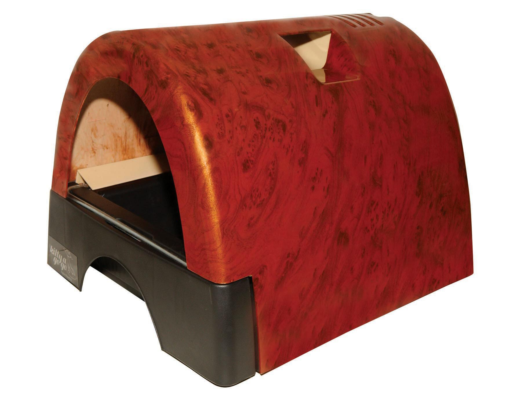 kittyagogo designer cat litter box with burl wood cover ebay. Black Bedroom Furniture Sets. Home Design Ideas