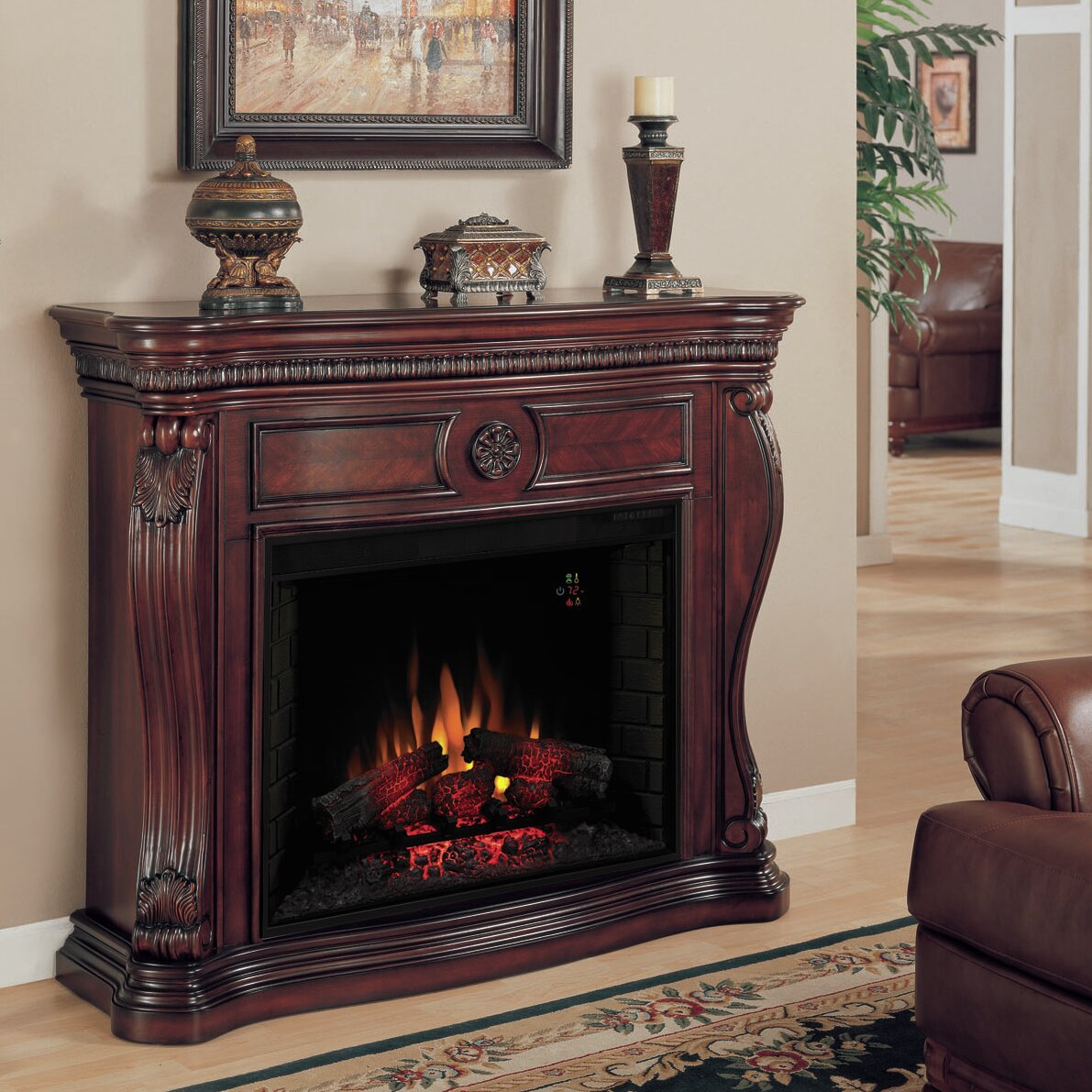 classic flame lexington electric fireplace mantel surround