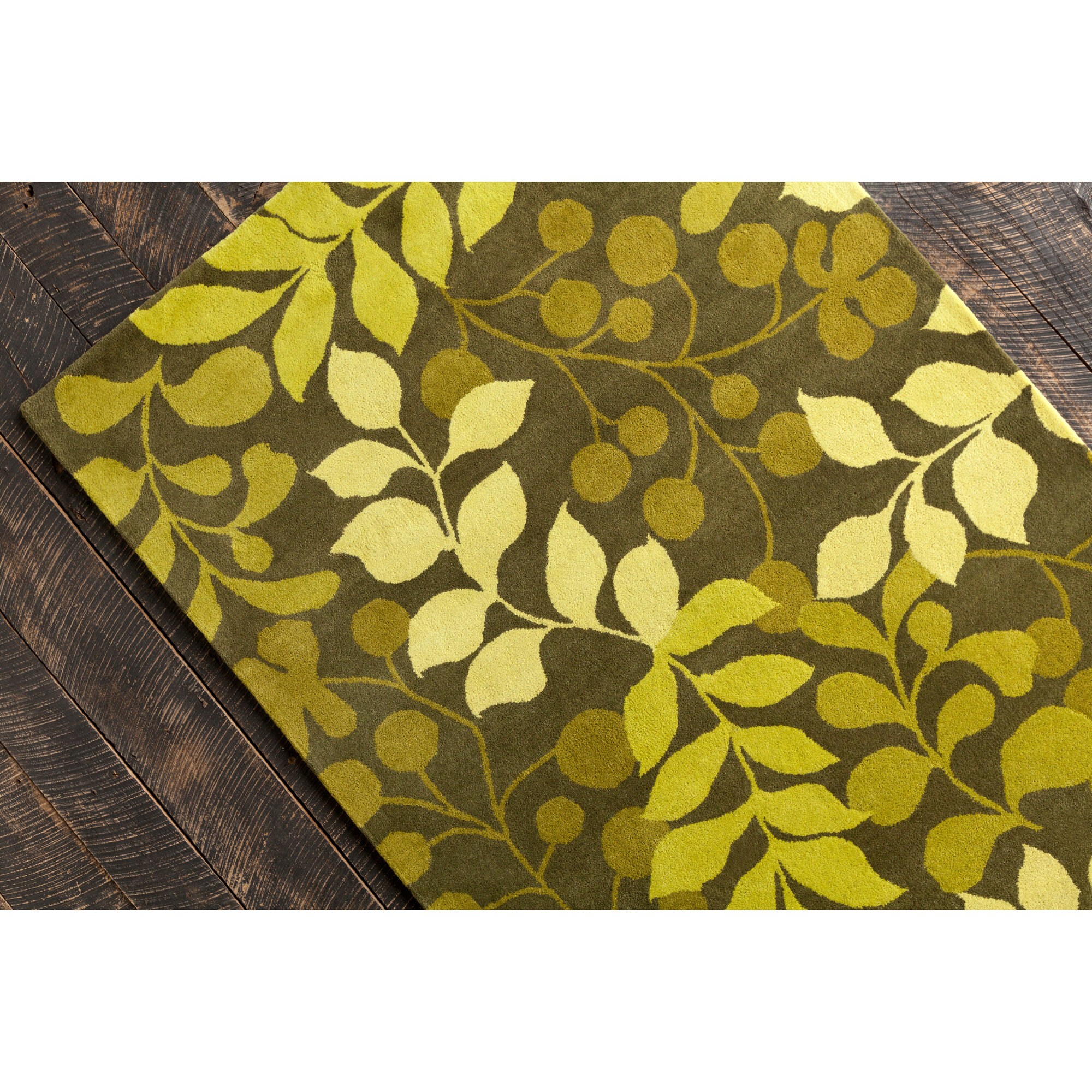 Lime Green Area Rug: Chandra Rugs Allie Hand Tufted Wool Ovile Green Lime Green