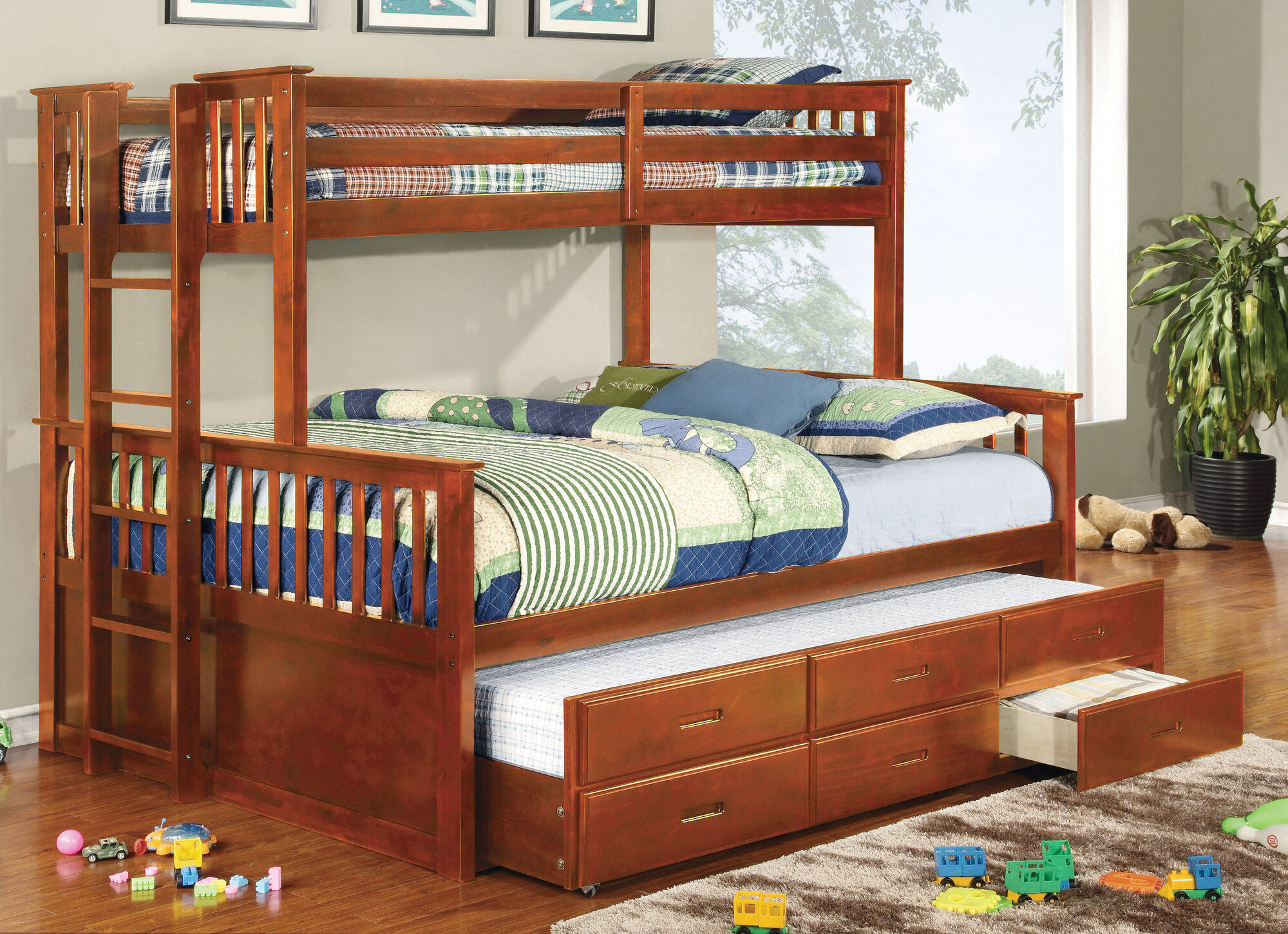 Hokku Designs Emmerson Twin Over Queen Standard Bunk Bed ...