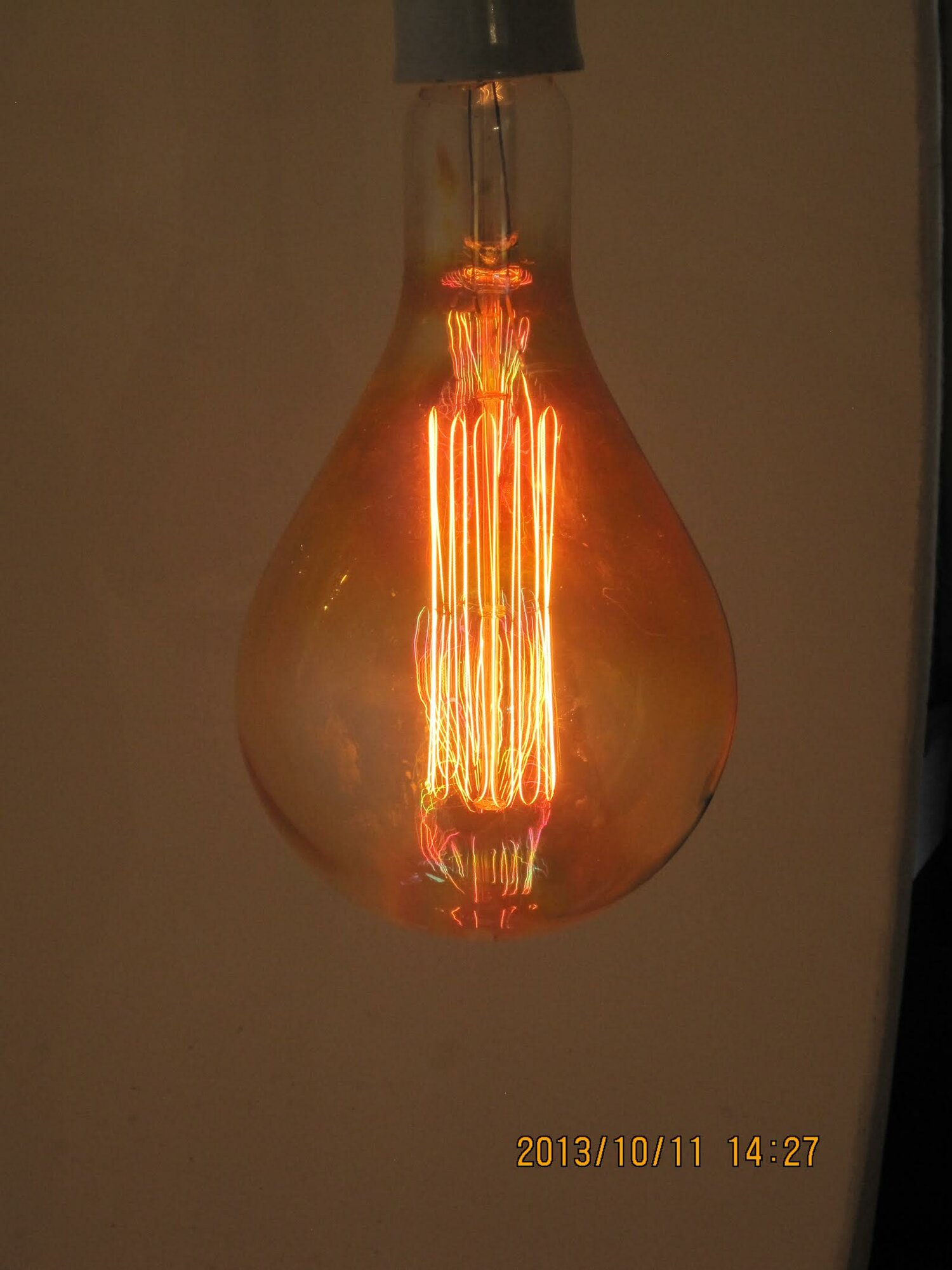 String Lights Standard Bulb : String Light Company Orange Incandescent Light Bulb eBay