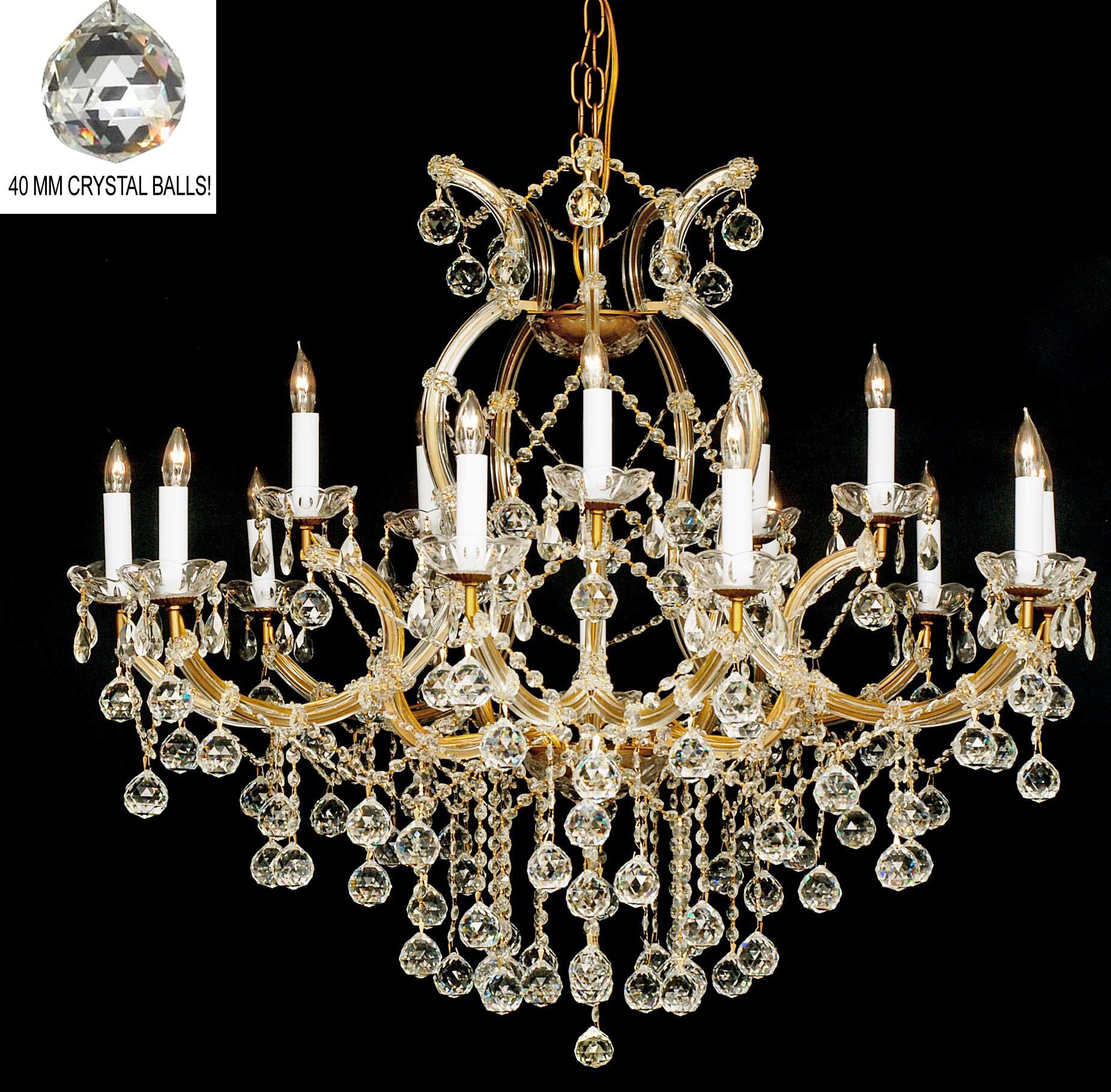 Yvette Crystal Chandelier: Harrison Lane Maria Theresa 16 Light Crystal Chandelier