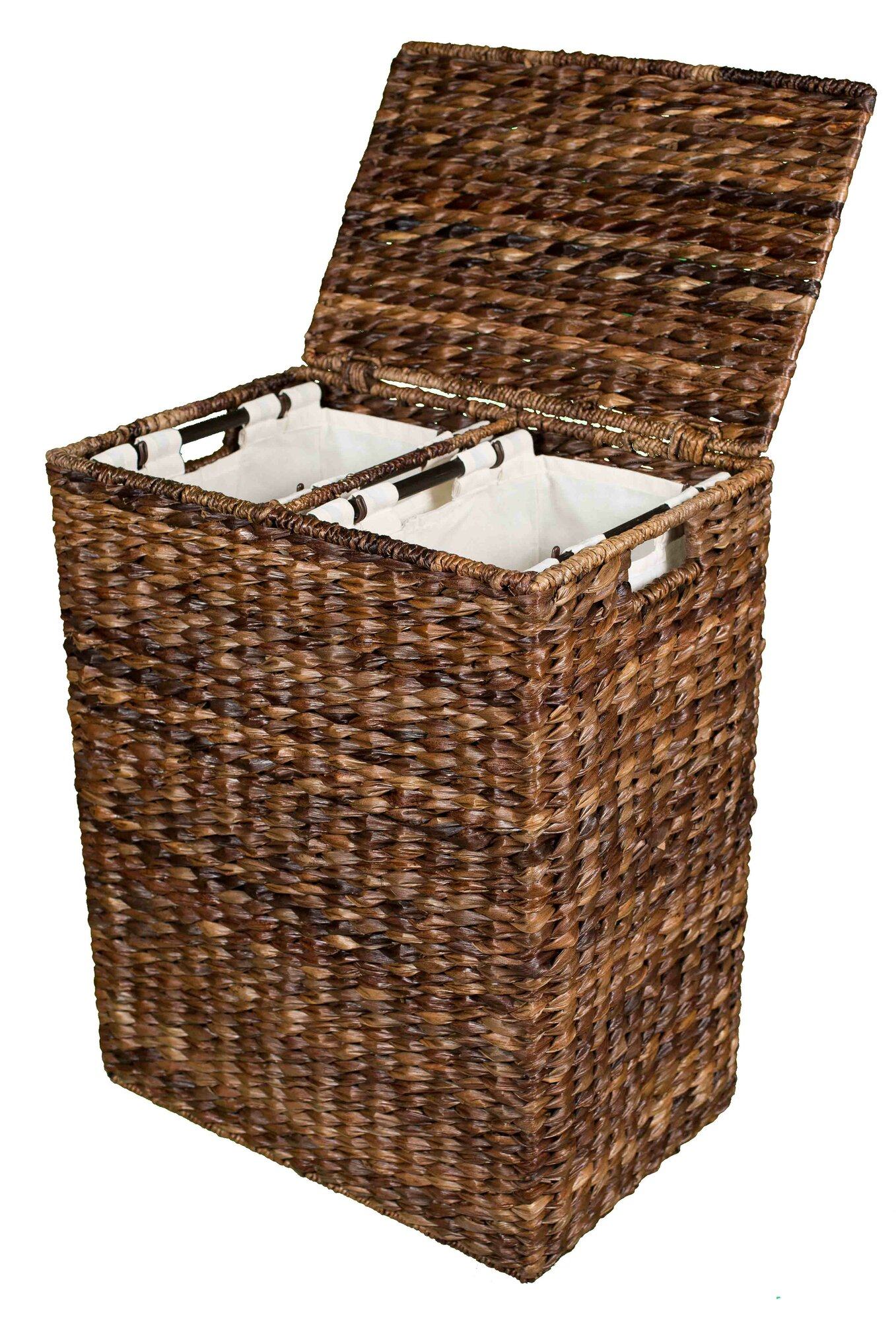 Divided laundry baskets can fit into your storage scheme throught the house. Organizing with a divided laundry basket can offer you an immediate impact in your home or office. The addition of a divided laundry sorter to your organizing system can make a big difference.