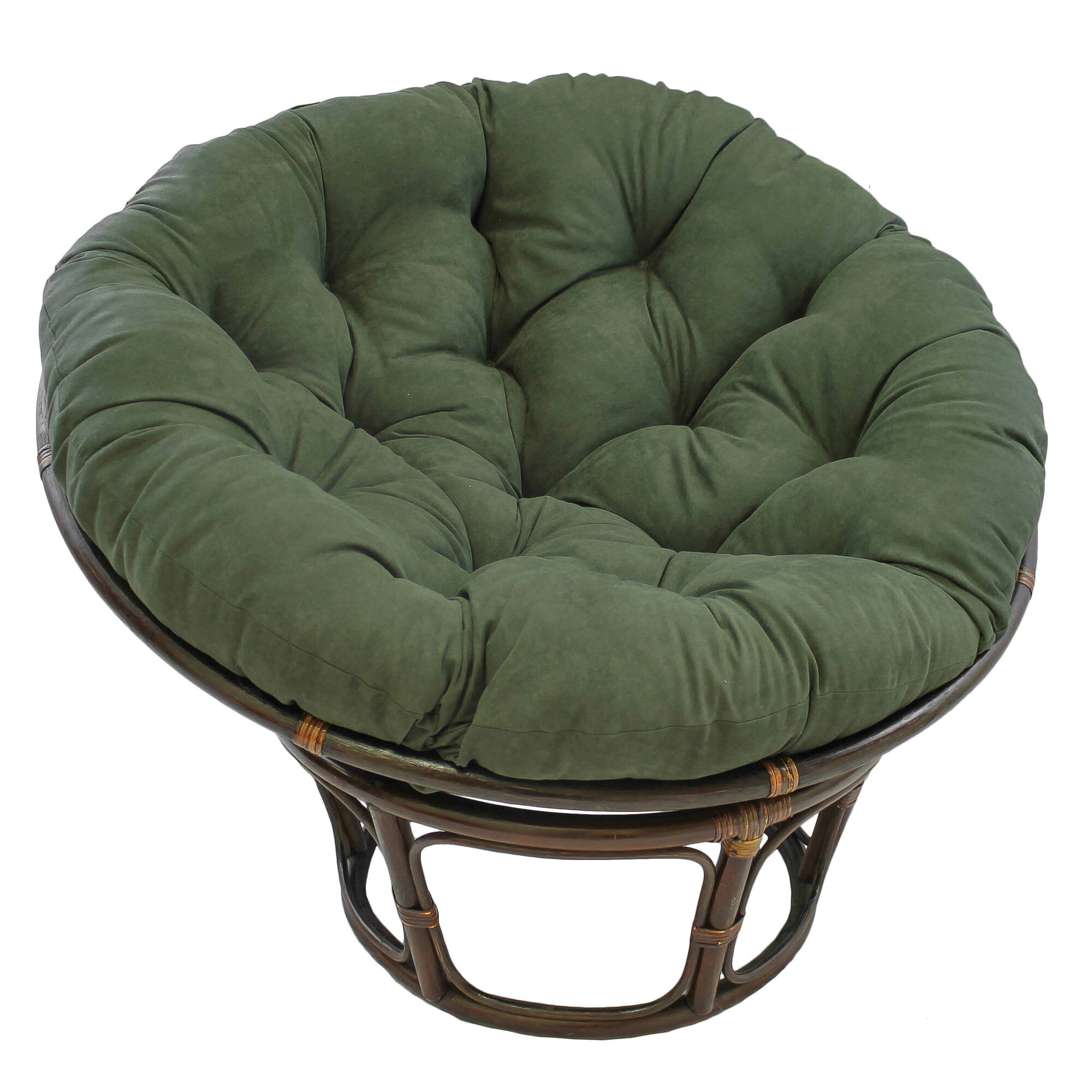 Pics Photos - Best Strong Rattan Wood Papasan Chair And Cushion