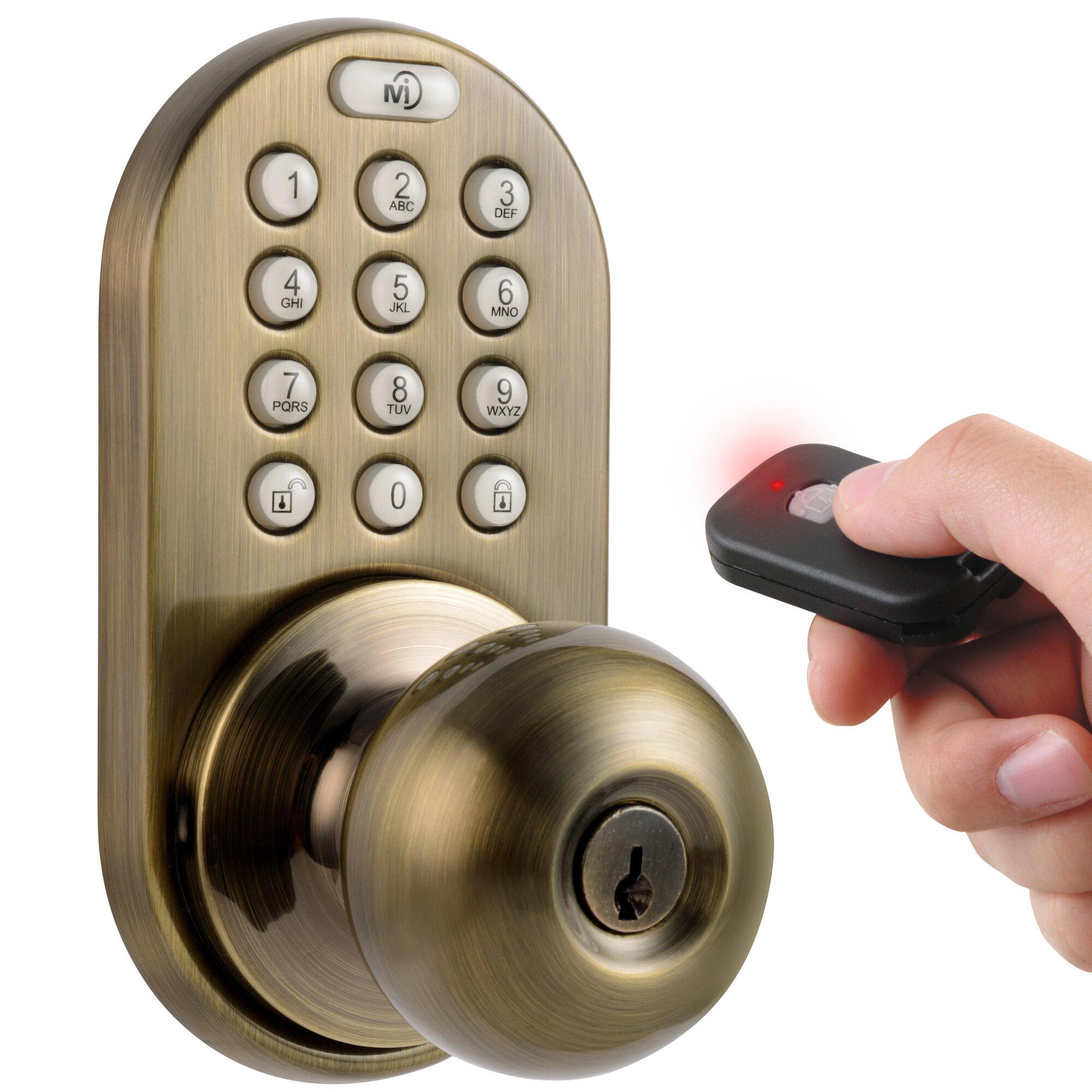 Milocks Keyless Electronic Door Knob With Remote Ebay