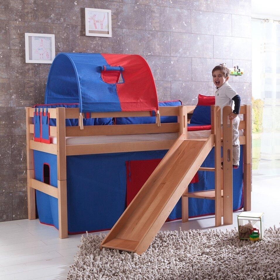 relita hochbett eliyas mit rutsche 90 x 200 cm ebay. Black Bedroom Furniture Sets. Home Design Ideas