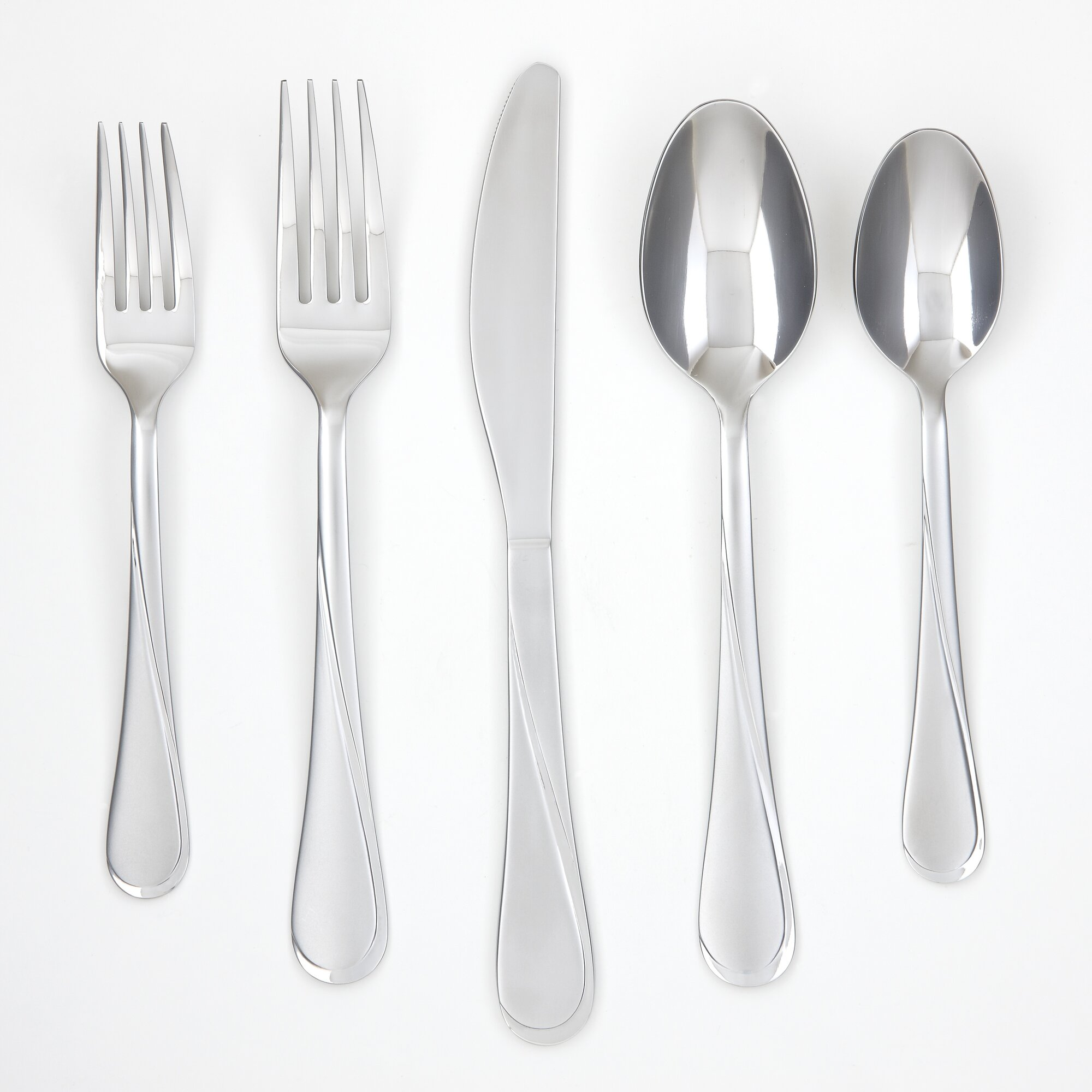 Cambridge Silversmith Gravity Sand 36 Piece Flatware Set