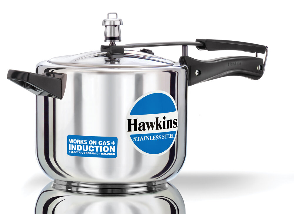 hawkins stainless steel pressure cooker ebay. Black Bedroom Furniture Sets. Home Design Ideas