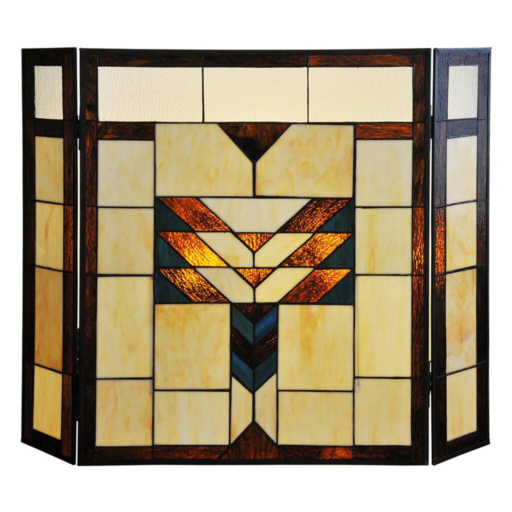 River of Goods Mission Stained Glass Fireplace Screen   eBay