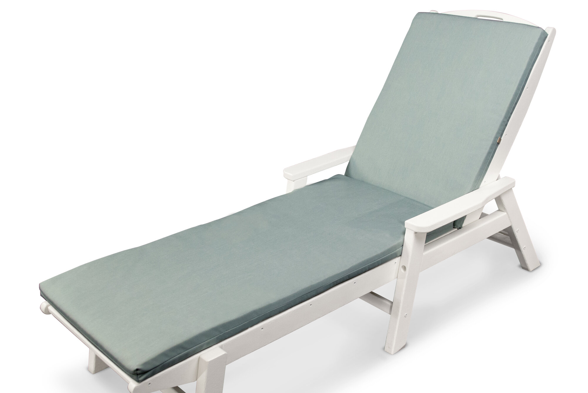 Ateeva outdoor sunbrella chaise lounge cushion ebay for Blue and white striped chaise lounge cushions