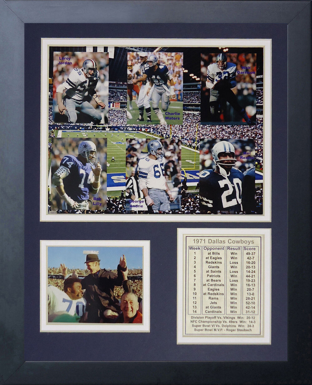 Legends Never Die Dallas Cowboys 1971 Champs Framed Memorabili
