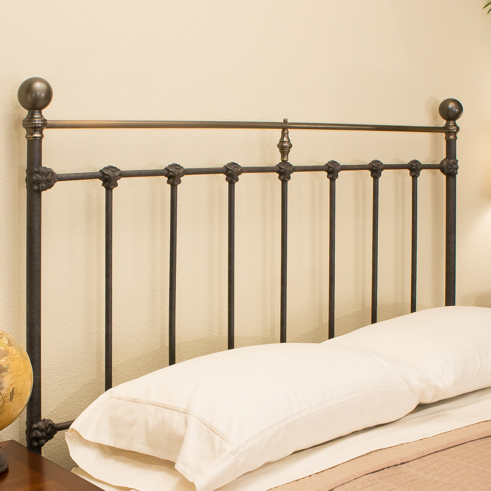 Benicia Foundry and Iron Works Durham Metal Headboard Size: Queen
