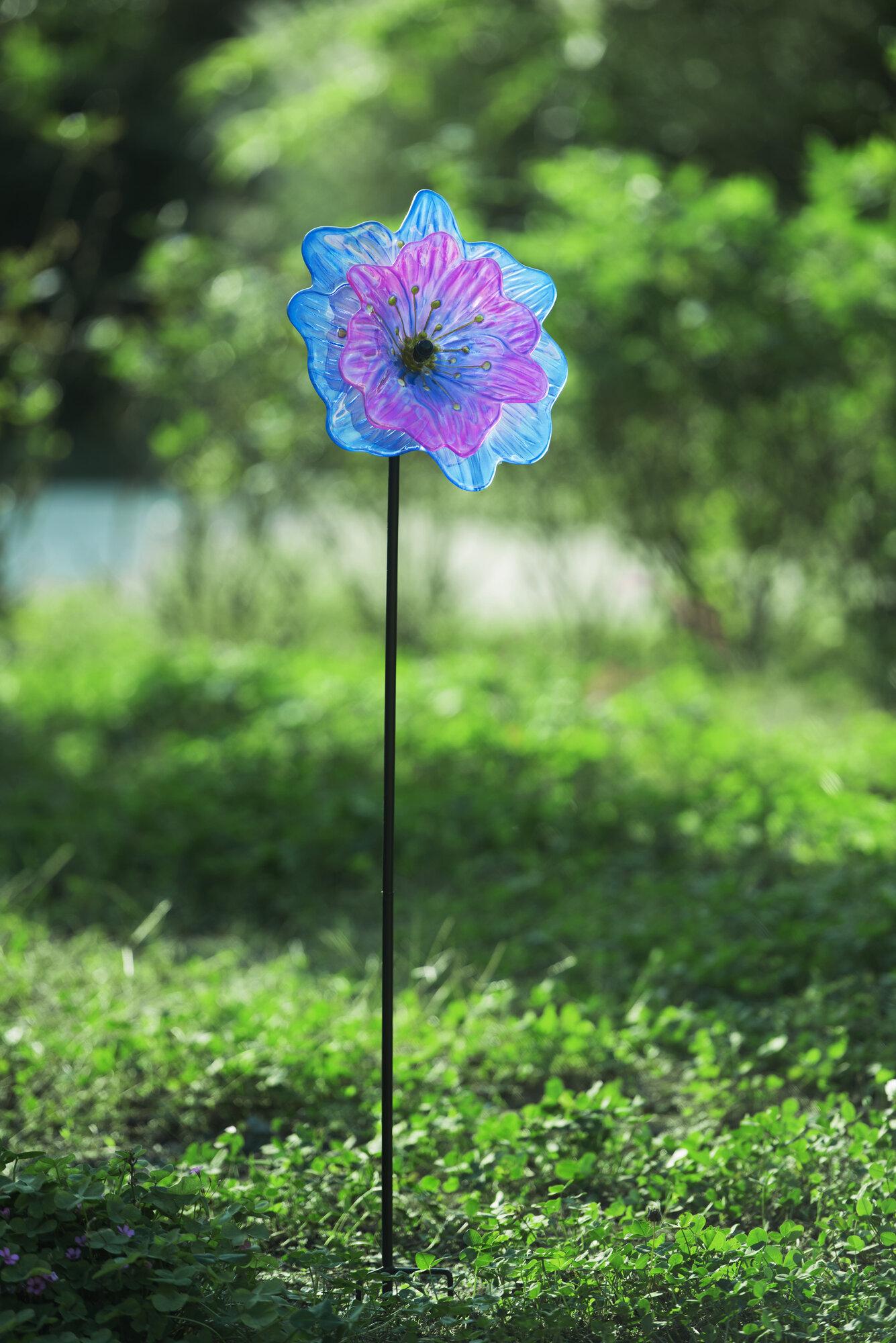 Glass Garden Flower Stakes