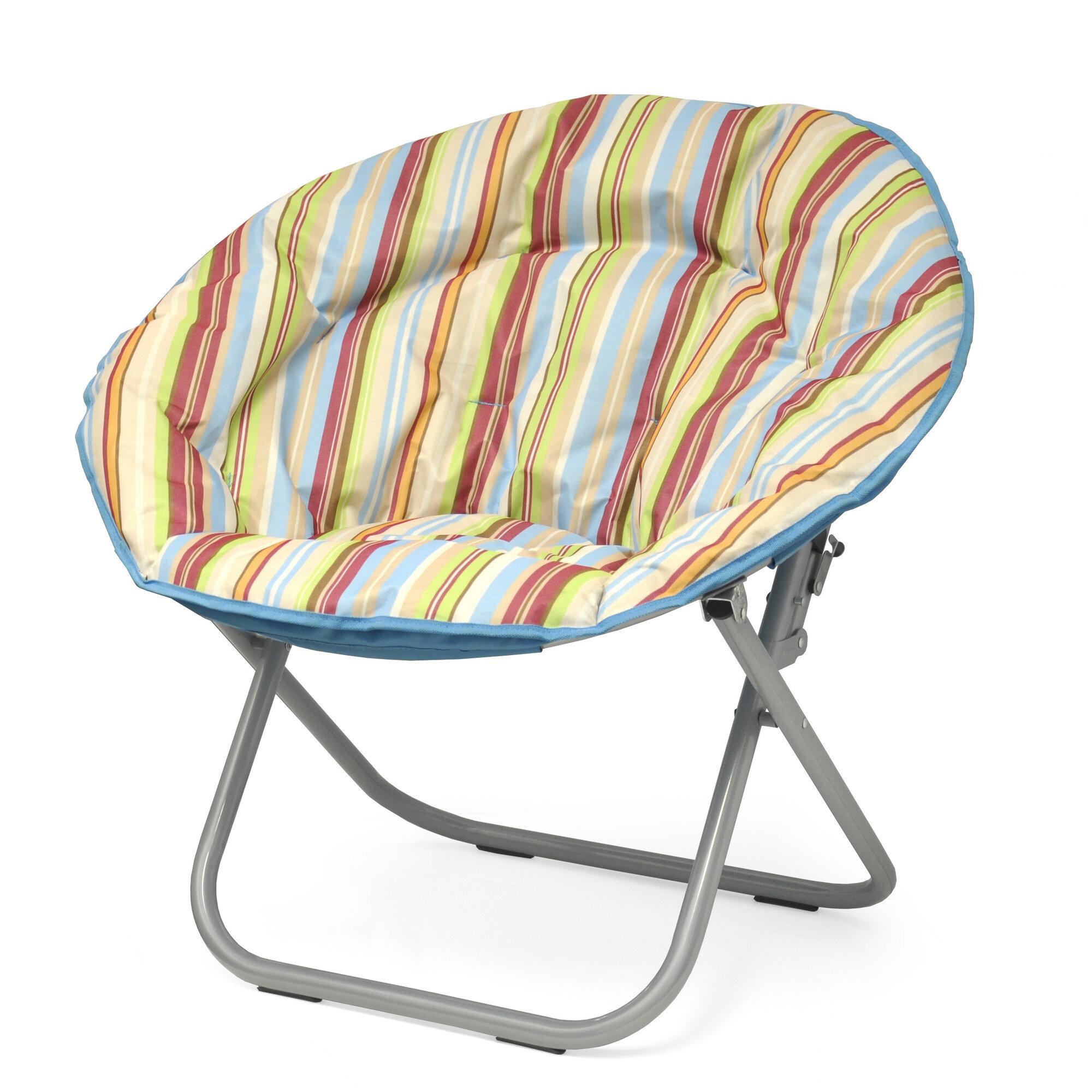 Idea Nuova Urban Shop Surfer Stripe Saucer Papasan Chair
