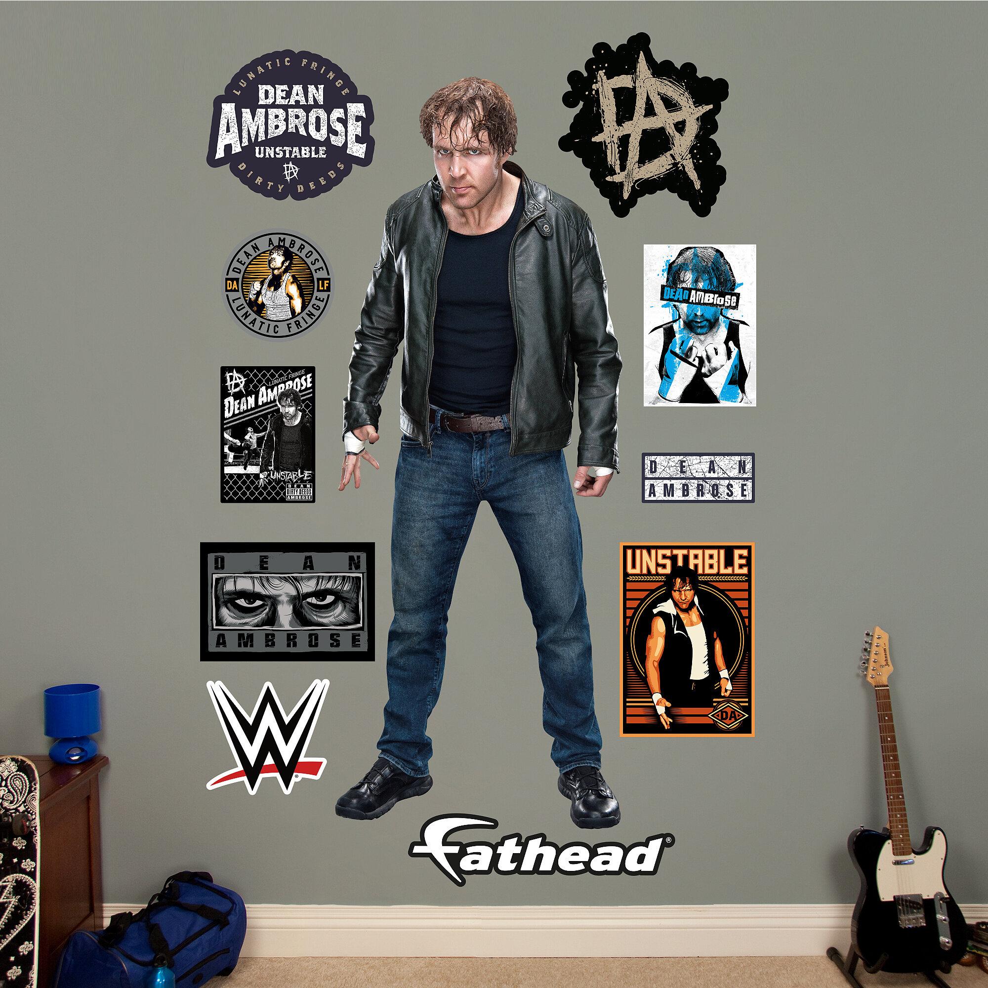 Fathead WWE Dean Ambrose Peel And Stick Wall Decal