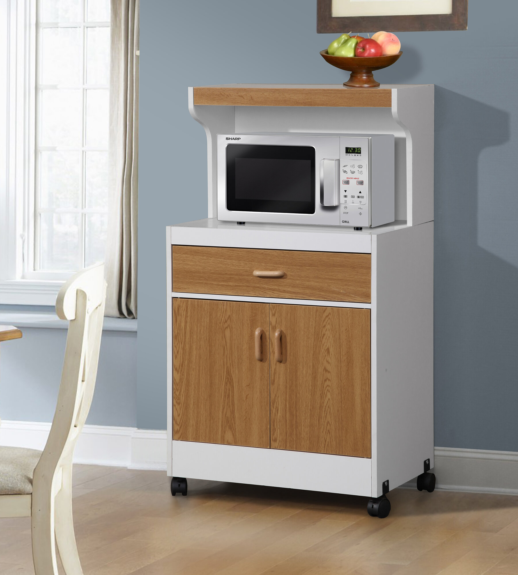 Counter Height Microwave Cart : Details about Hazelwood Home Microwave Cart