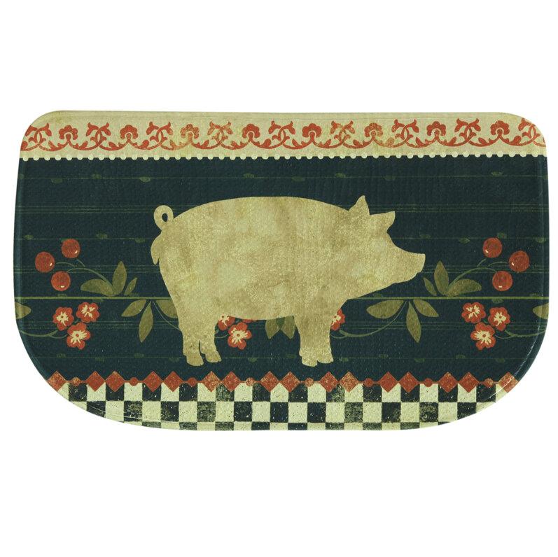 Memory Foam Kitchen Rugs: Bacova Guild Retro Pig Memory Foam Kitchen Mat