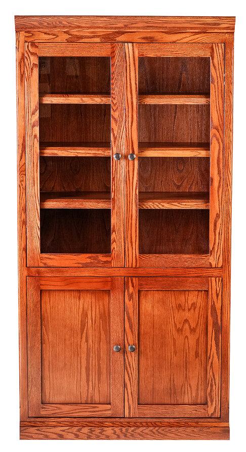 Forest Designs Mission Standard Bookcase Finish Golden Oak