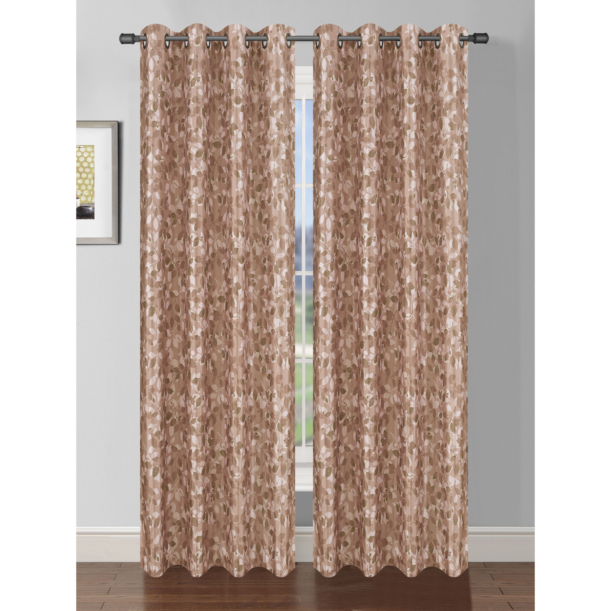 Bella Luna Pinehurst Room Darkening Extra Wide Thermal Single Curtain Panel Ebay