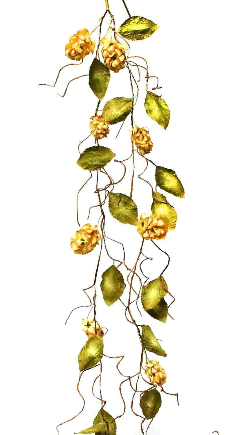 Ziabella silk dried hops garland with faux leaves ebay for Artificial hops decoration