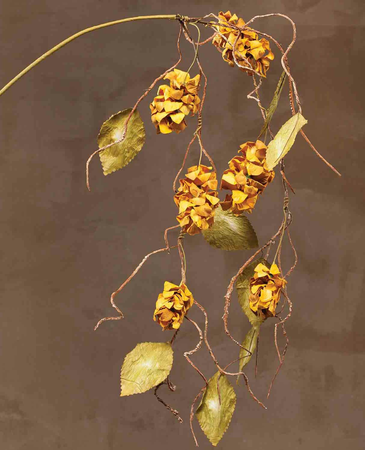 Ziabella silk dried hops hanging spray with faux leaves ebay for Artificial hops decoration