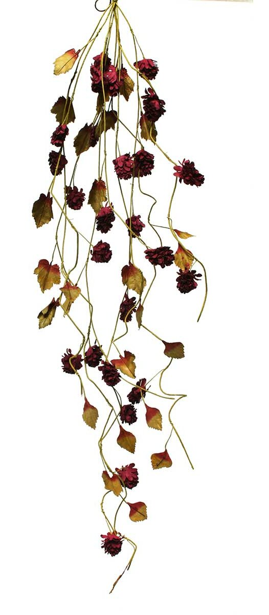 Ziabella silk dried hops cascade with faux leaves ebay for Artificial hops decoration