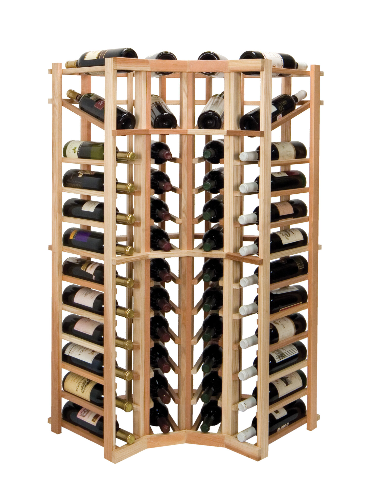 Wine cellar innovations vintner series 44 bottle floor for Floor wine rack
