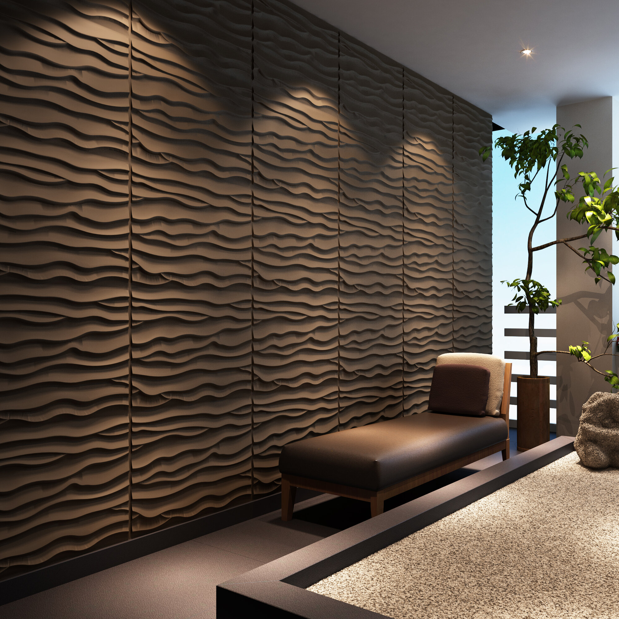 Paintable Wall Panels : Threedwall dunes brick paintable panel wallpaper set of