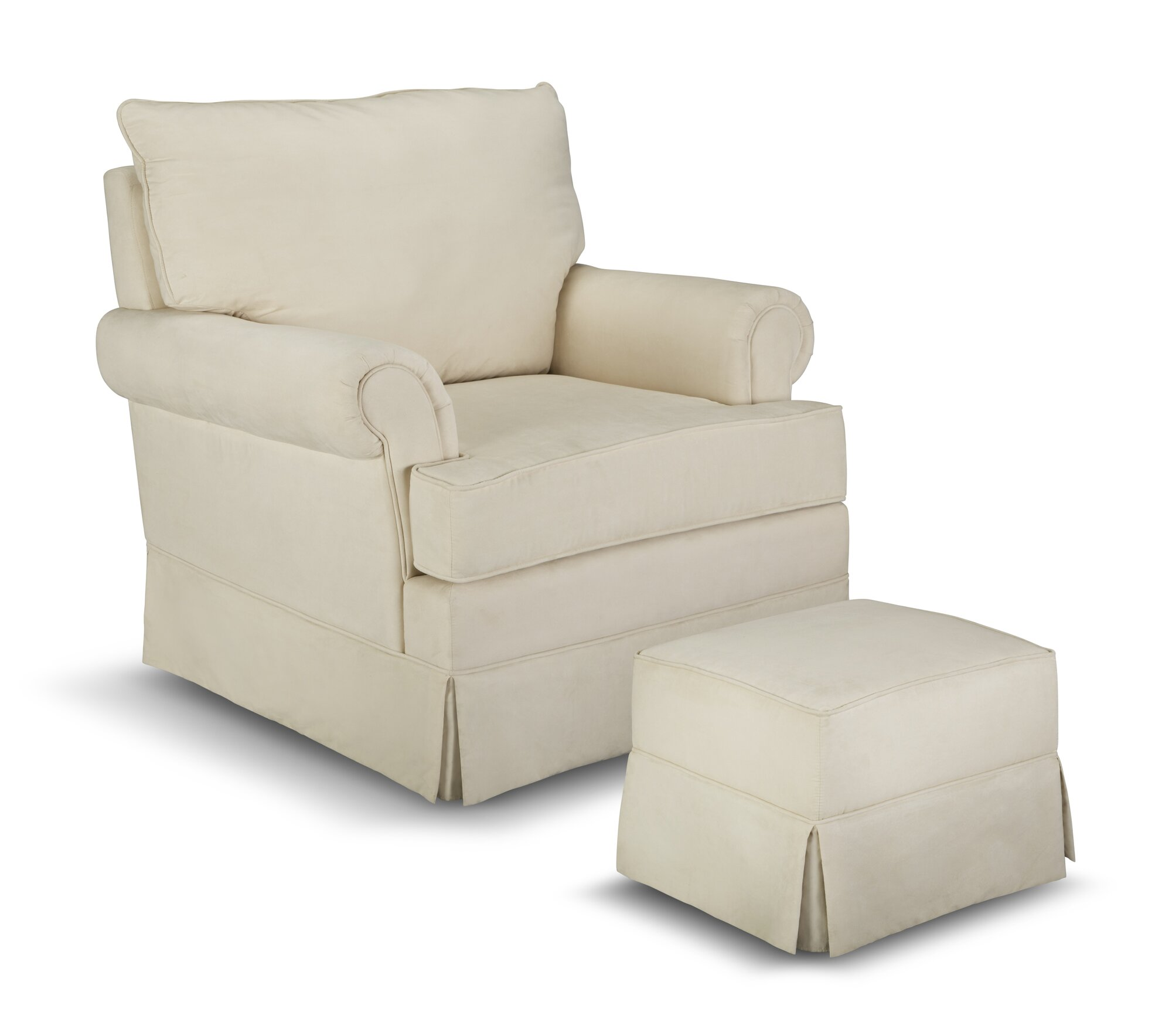 Superb img of  Thomasville Kids Grand Royale Upholstered Swivel Glider & Ottoman with #5C503C color and 2000x1767 pixels