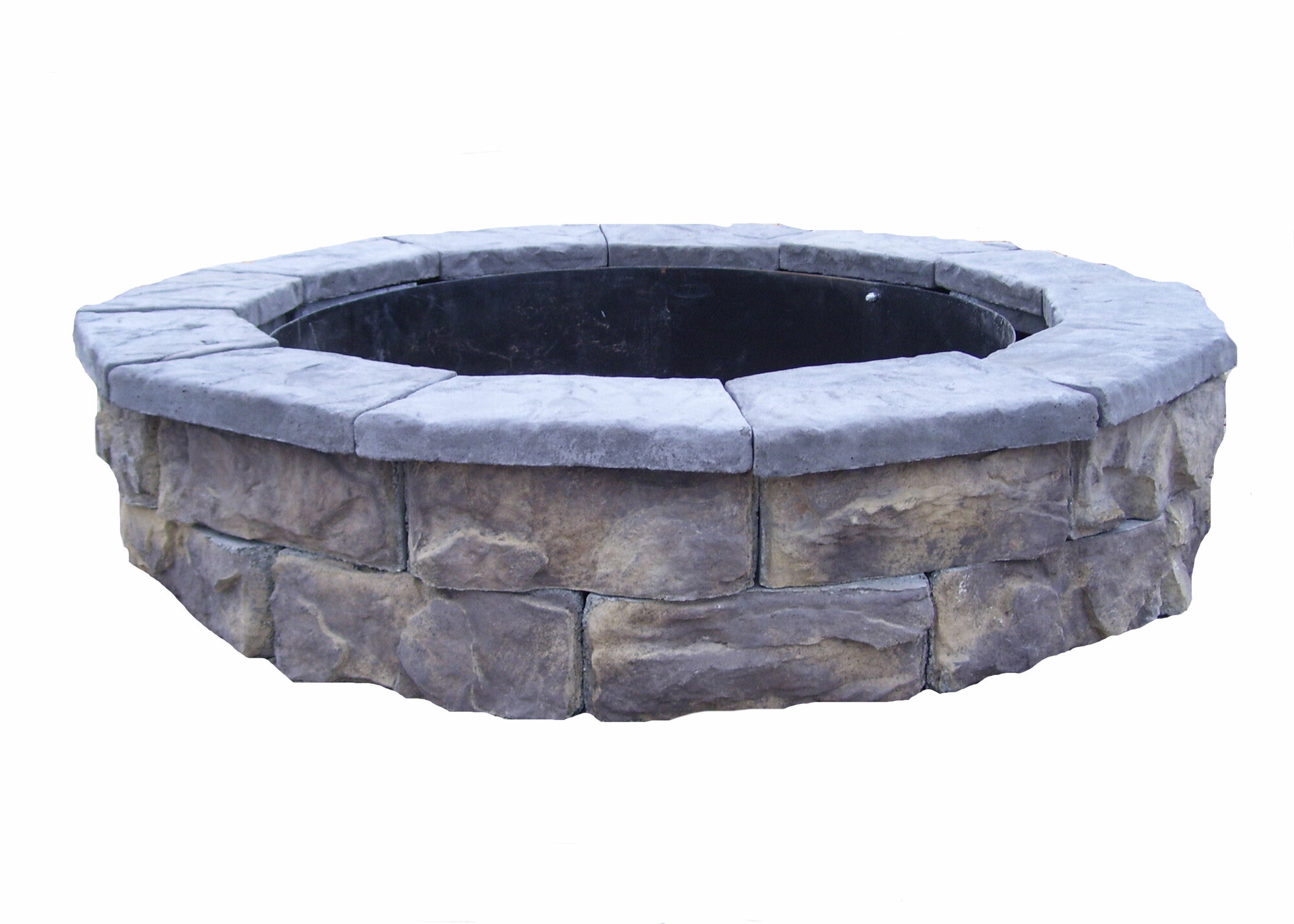 Natural concrete products co fossill stone fire pit kit ebay for Precast concrete outdoor fireplace kits