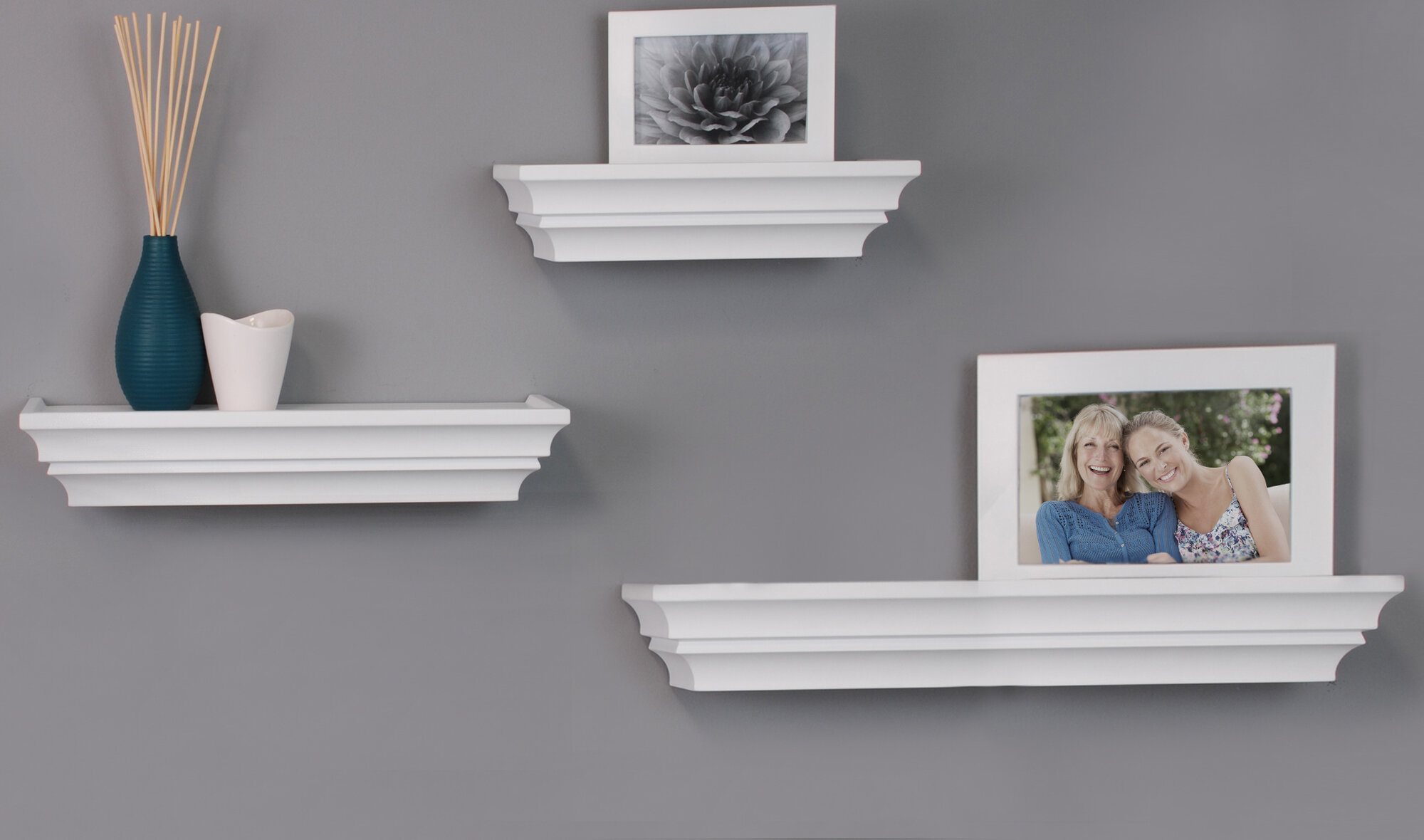 Nexxt design 3 piece madison wall shelf set ebay for Wall piece design