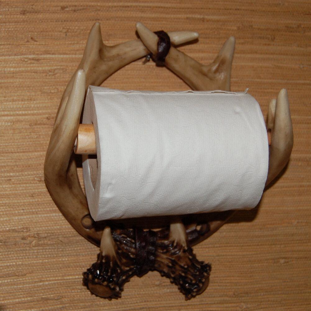 Craft tex deer antler wall mounted toilet paper holder ebay for Toilet tissue crafts